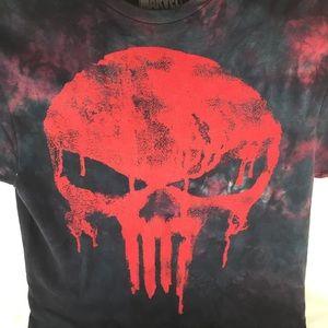 Marvel The Punisher Mens SZ L 42-44 T-Shirt black